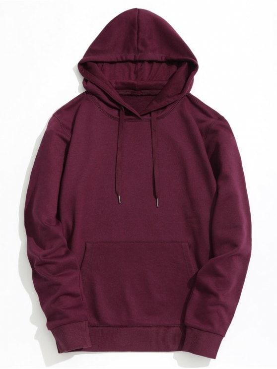 burgundy hoodie ladies kangaroo pocket plain hoodie - burgundy xl MFZMETK