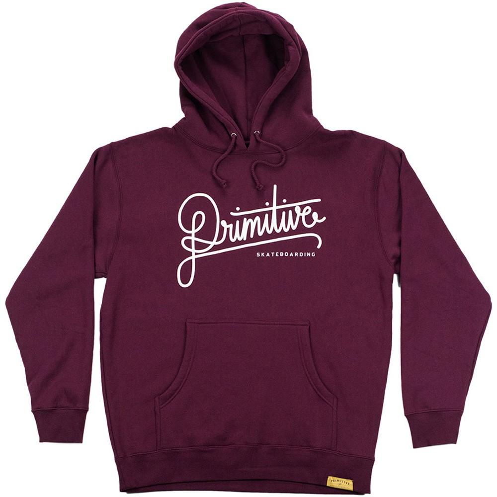 burgundy hoodie primitive apparel longhand pullover hoodie - burgundy PAWDTII