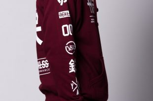 burgundy hoodie ... young and reckless mens - tops - hoodies strike thru hoodie - burgundy IJULNCK