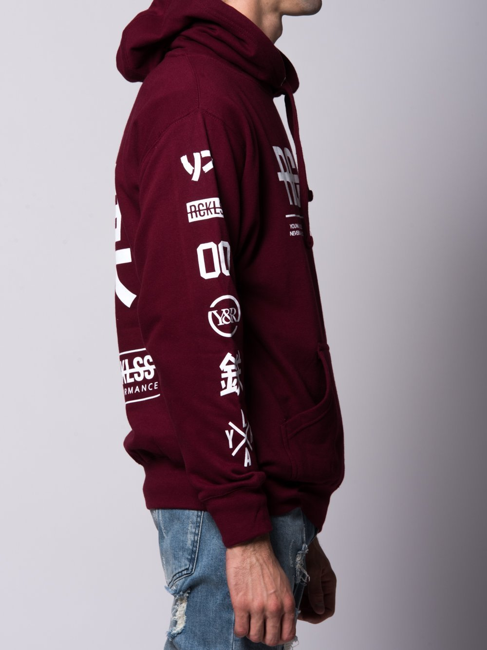 Stylish and sleek- burgundy hoodie