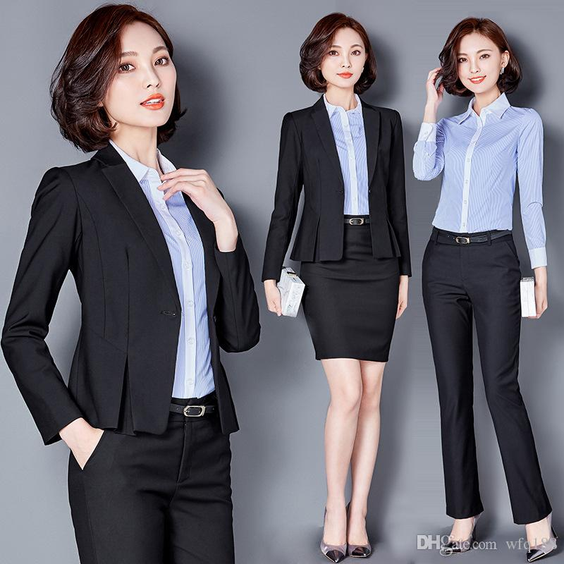 business wear for women 2018 the female suit business attire hotel front desk work clothes in  summer suit GWDDLAS