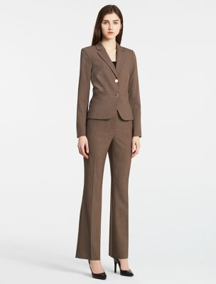business wear for women heather taupe suit NHLKRKJ