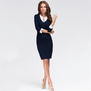 business wear for women image is loading elegant-women-office-lady-formal-wear-business-work- ZAUVXBM