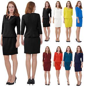 business wear for women image is loading marycrafts-women-039-s-elegant-skirt-suit-set- AIZATJU