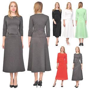 business wear for women image is loading women-039-s-top-shirt-a-line-midi- ZBZEMRI