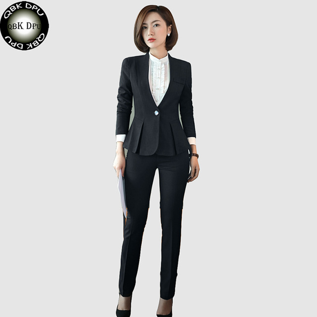 business wear for women qbk dpu brands business attire slim ol office women suits blazer set 2017  new WALMQYM