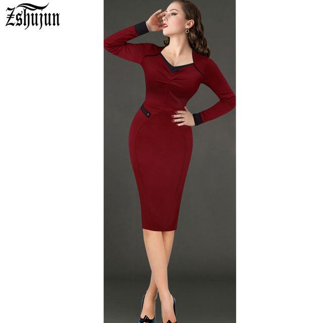 business wear for women women elegant office dress women solid draped casual business wear work  sheath ruffle dresses IPMFWCZ