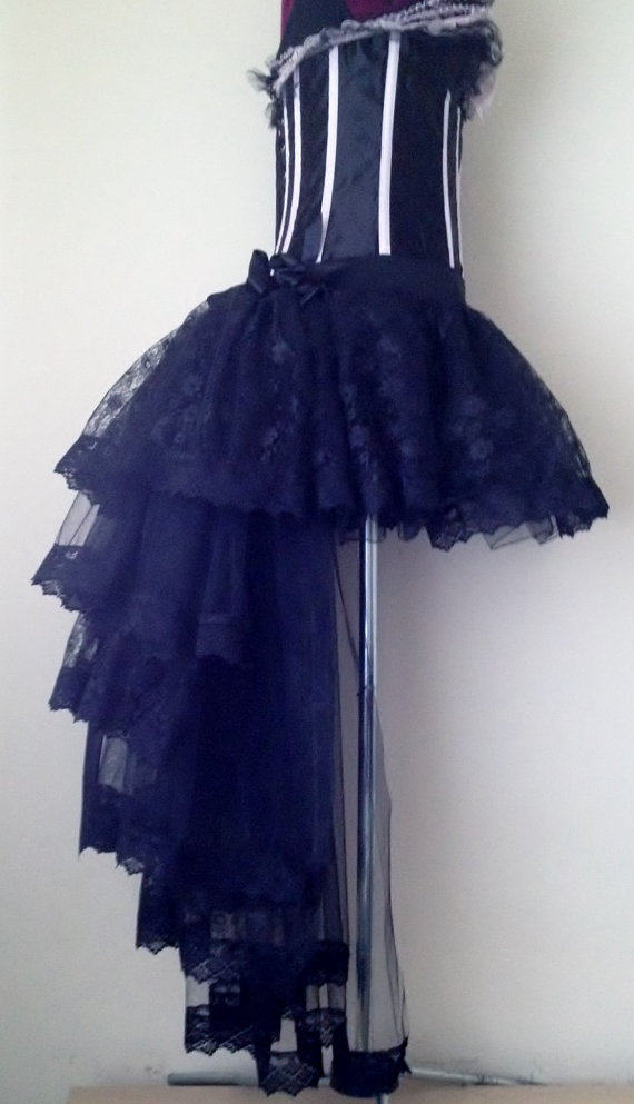 bustle skirts black burlesque tulle lace bustle skirt all sizes at checkout HPBDVFP
