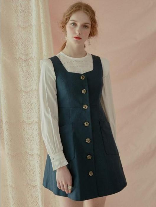 button jumper dress IFDJXQW