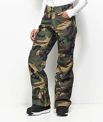 camo pants for women aperture crystaline camo 10k snowboard pants ZUUELDA