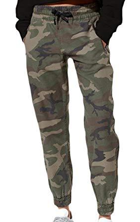 camo pants for women arrive guide womenu0027s camo drawstring zipper-pocket sport jogger pants  camouflage xs UVBMKXH