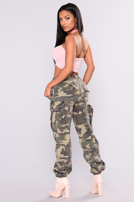 camo pants for women cadet kim oversized camo pants - camo NGFZTLC