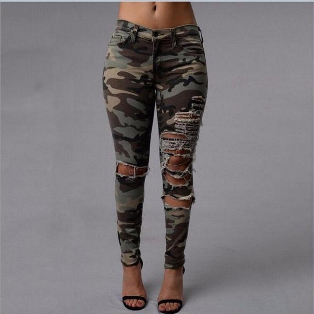 camo pants for women camo ripped pants women 2017 sexy womenu0027s capris summer trousers skinny ladies  pants army OGWYIMR
