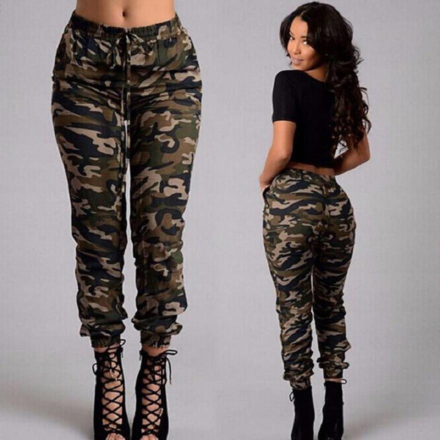 camo pants for women fashion army green camouflage pants plus size oversized 5xl spring autumn  women casual belt HBTCIWY
