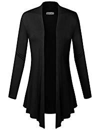 Cardigans for women women classic open front lightweight soft drape cardigan (s-3x) FMKJMRX