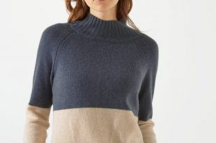 Cashmere Jumper colour block cashmere jumper SPUKLJL