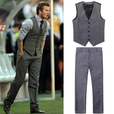 Casual suits 2018 hot sale david beckham same style casual suits groom tuxedos best man  suits OVBRDIV