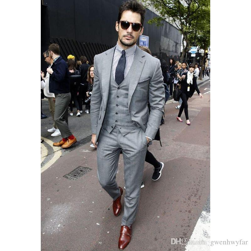 Casual suits fashion casual men suit set slim fit 2018 jacket+pants+vest custom made men  suits for CYVOOUM