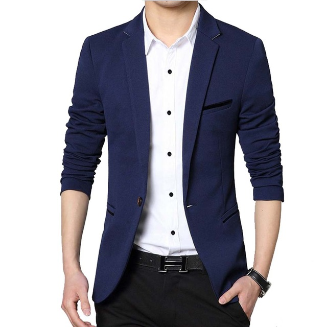 Casual suits men casual suit business style fashion design menu0027s long sleeve slim fit  suits masculine DBSDQVN
