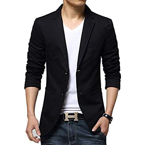 Casual suits zity menu0027s slim fit suits casual 2 button solid blazer jacket black us  xl/label TZBPLMF