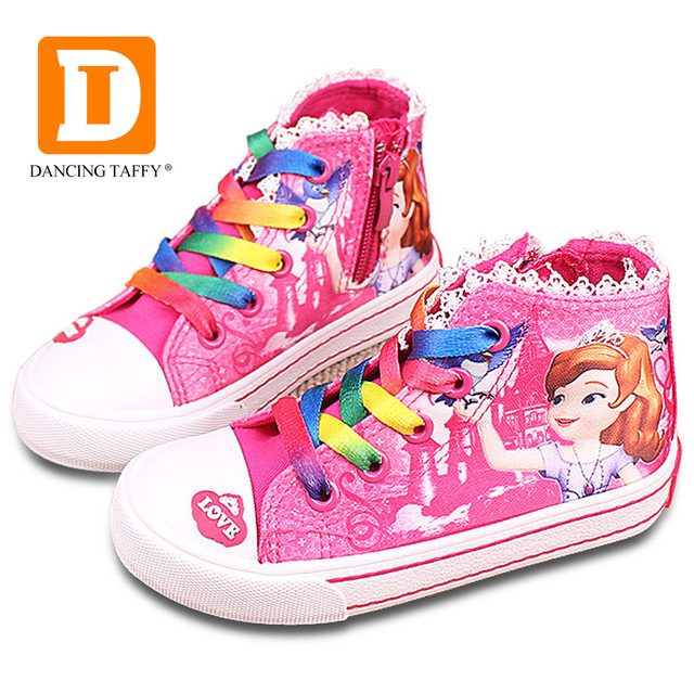 childrens shoes new beauty childrenu0027s shoes girls 2017 sofia princess cartoon running  sneakers fashion canvas kids ZOAUSGX