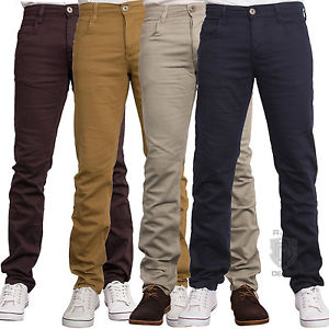 Chino Jeans image is loading mens-chino-jeans-skinny-slim-fit-stretch-in- BLPLDQC