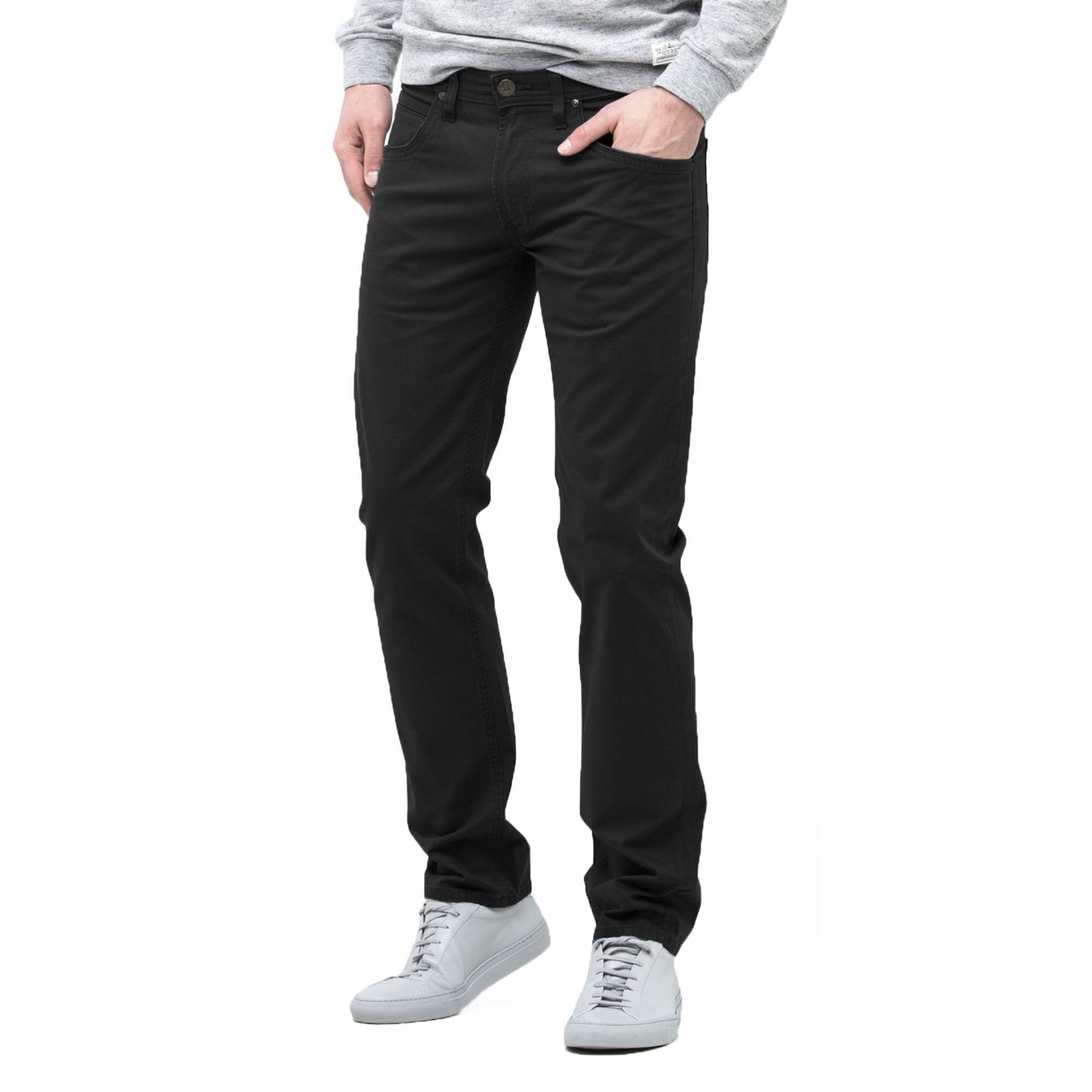 Chino Jeans lee daren zip regular slim chino jeans black ZUMCUFI