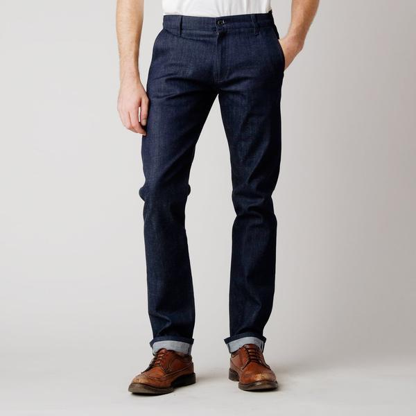 Chino Jeans raw jeans; bdc menu0027s slim denim chino ... DDXSQAD