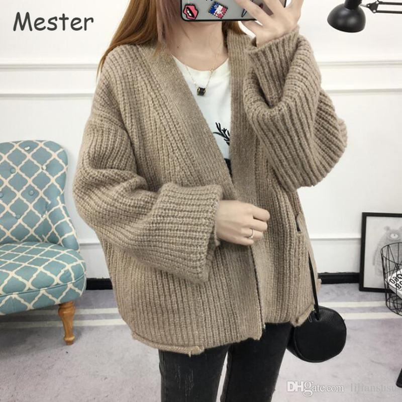 chunky knit cardigans 2018 women chunky knitted cardigan plus size women clothing casual loose  thick batwing cardigans QNMJZCE