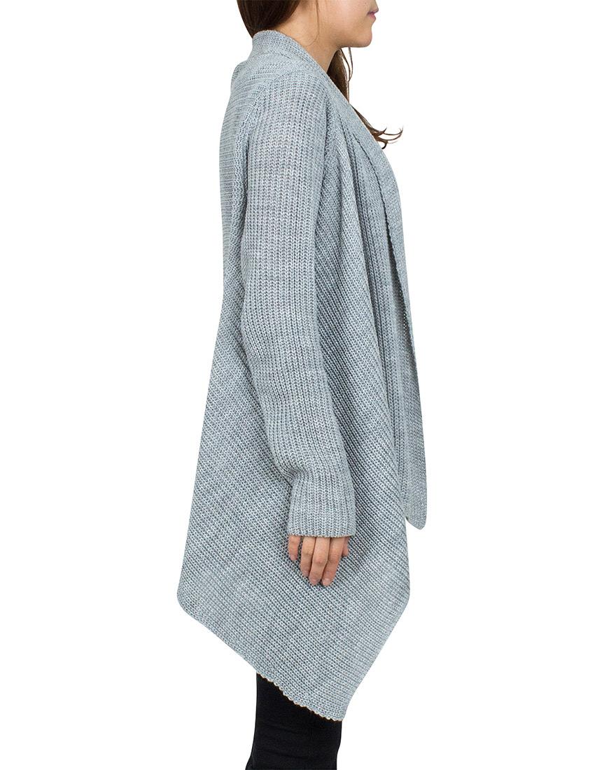 chunky knit cardigans cozy chunky knit open drape-front cardigan sweater - annakastle.com FZEZIXV