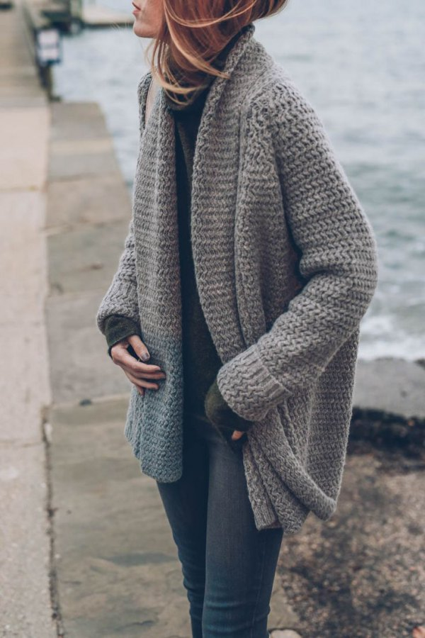 chunky knit cardigans today ... YFCOVZU