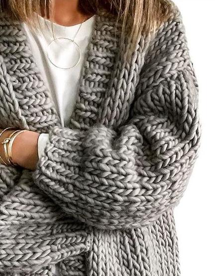 chunky knit cardigans YWOWGEM