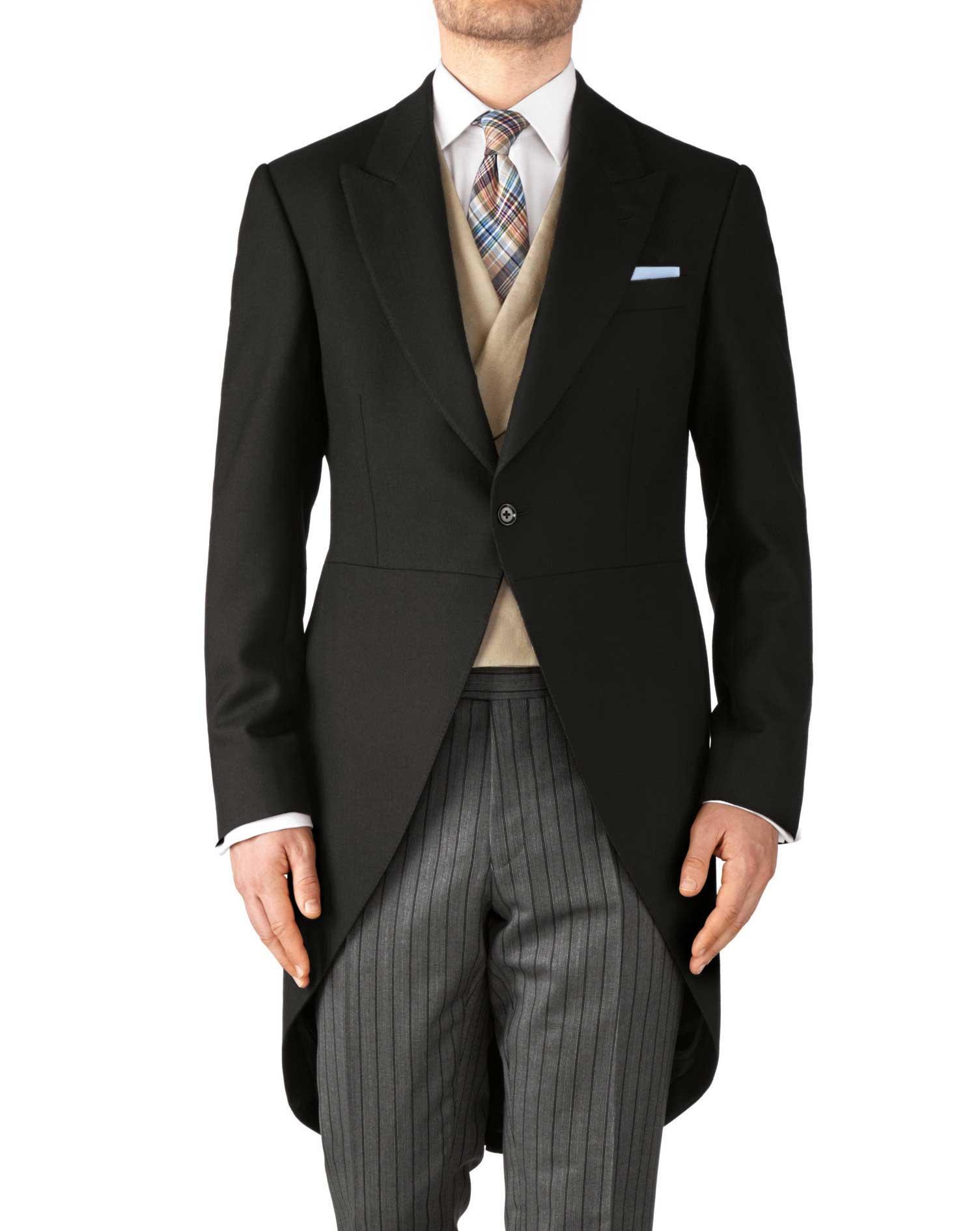 coat suit black classic fit morning suit tail coat HIXGNRG