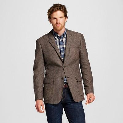 coat suit menu0027s slim fit suit coat brown - merona™ ZFJBNVR