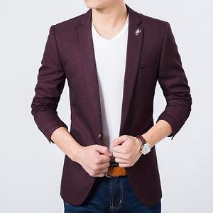 coat suit mens maroon slim fit blazer suit coat jacket + bow tie free PXAUJCN