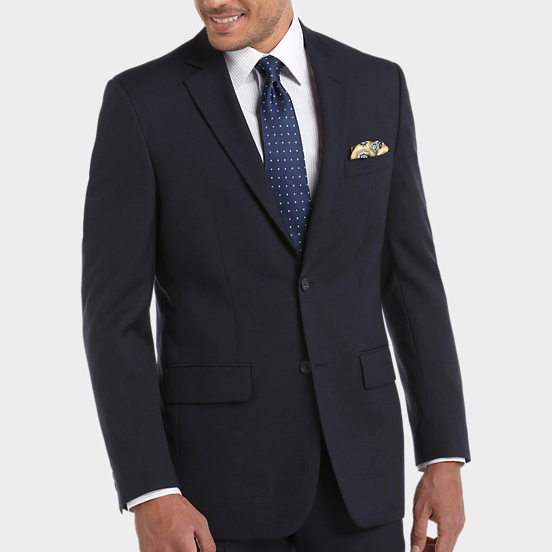 coat suit pronto uomo platinum suit separates coat, navy sharkskin - menu0027s suit  separate coats | AUKKFET