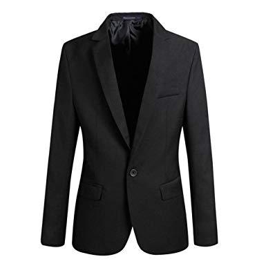 coat suit vobaga menu0027s slim fit casual one button suit blazers black xl ELSYVKY
