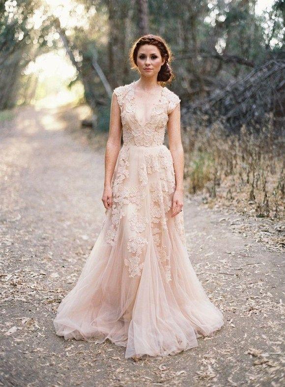 color wedding dresses 25 best colored wedding dresses for the fine art bride NJDJVKM
