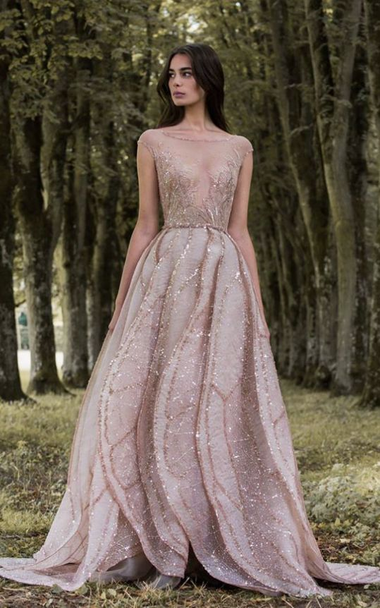 color wedding dresses elegantly unique gold embellished cap sleeve champagne colored wedding dress;  featured dress: paolo sebastian YBOXDAT