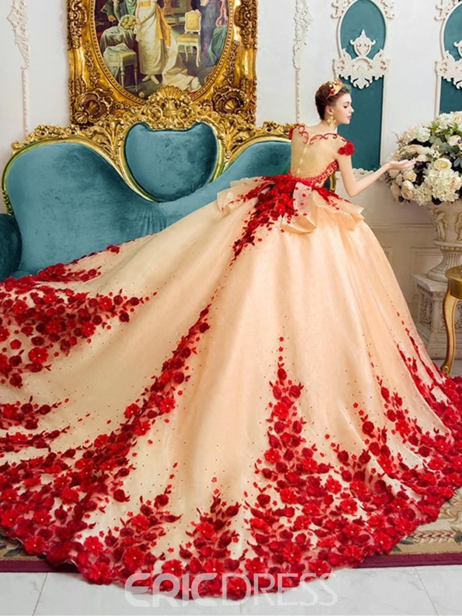 color wedding dresses ericdress amazing scoop ball gown color wedding dress ... JIHLWAZ