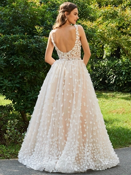 color wedding dresses ericdress backless lace color wedding dress RMSKZDH