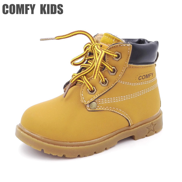 comfy kids child snow boots shoes for girls boys boots fashion soft bottom  baby ZNGAPHS