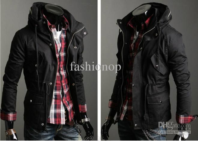 cool jackets menu0027s cool jacket stand collar double deck design casual outwear coat jacket  txfs 30 JDMMHBJ