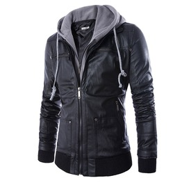 cool jackets menu0027s moto racer faux leather hooded jackets NLTVIVF