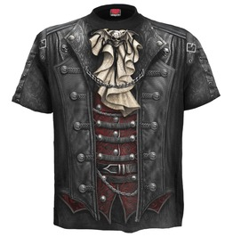 cool shirts for men goth wrap allover t shirt black SLMAEYI