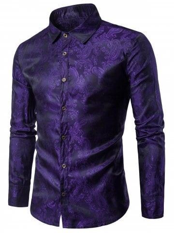 cool shirts for men paisley vintage long sleeve shirt DEVPTQU