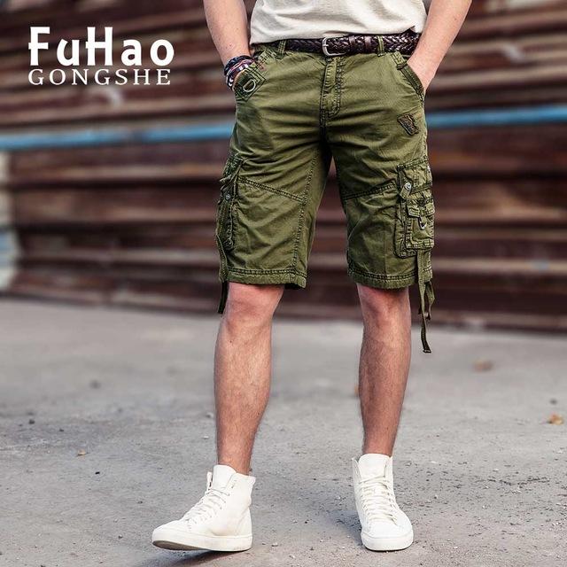 Cool Summer Pants cargo shorts men cool summer hot sale cotton casual men short pants brand  clothing MMDXTEZ