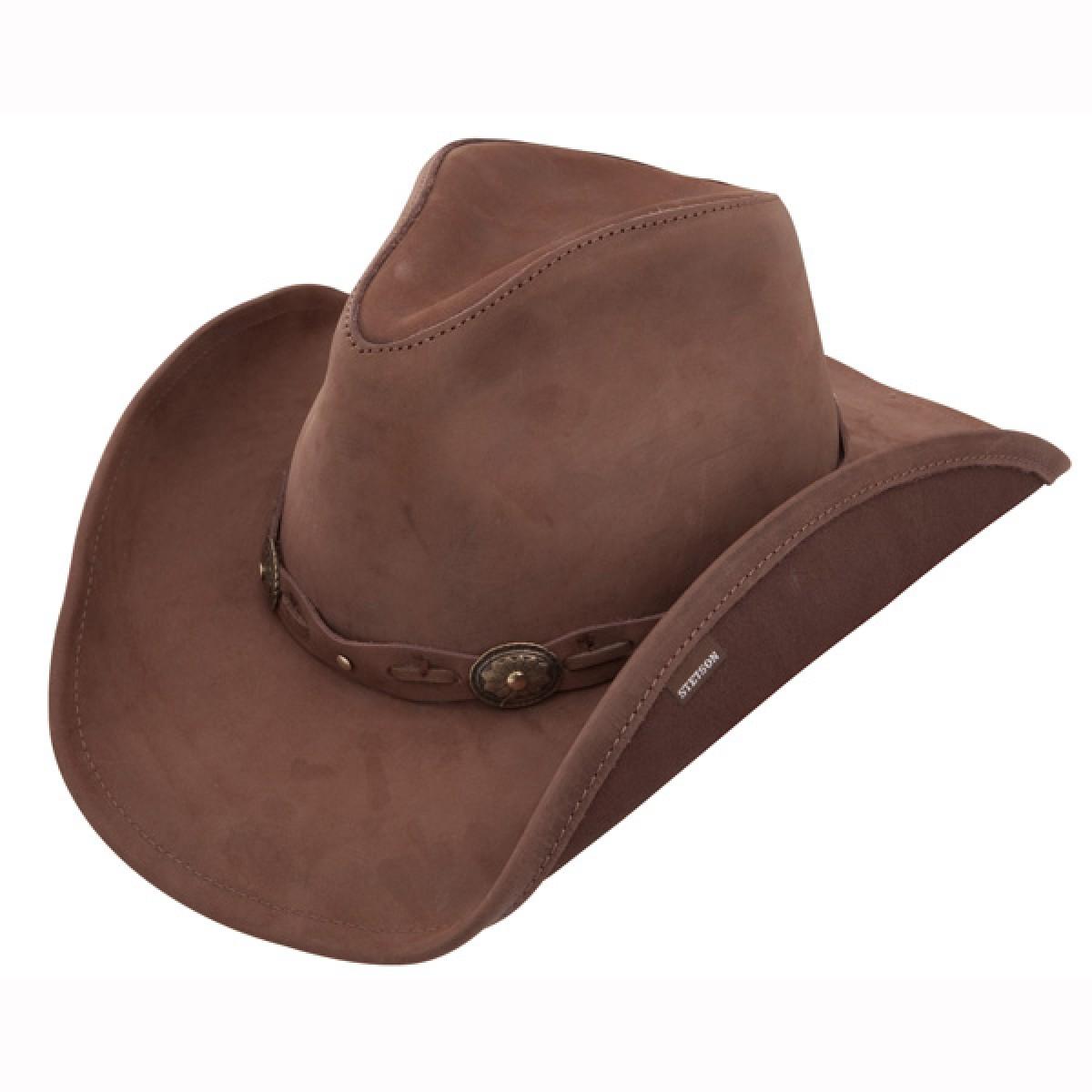 cowboy hats stetson roxbury - leather cowboy hat IMVCRNO