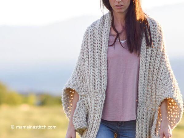 crochet cozy blanket cardigan PWVVASC
