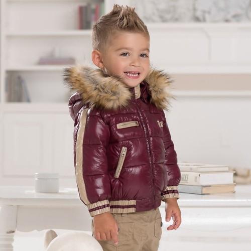 db1668 davebella baby winter coats fur collar JWMEVUR